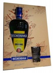 Becherovka 38% 0,7L+glass mug