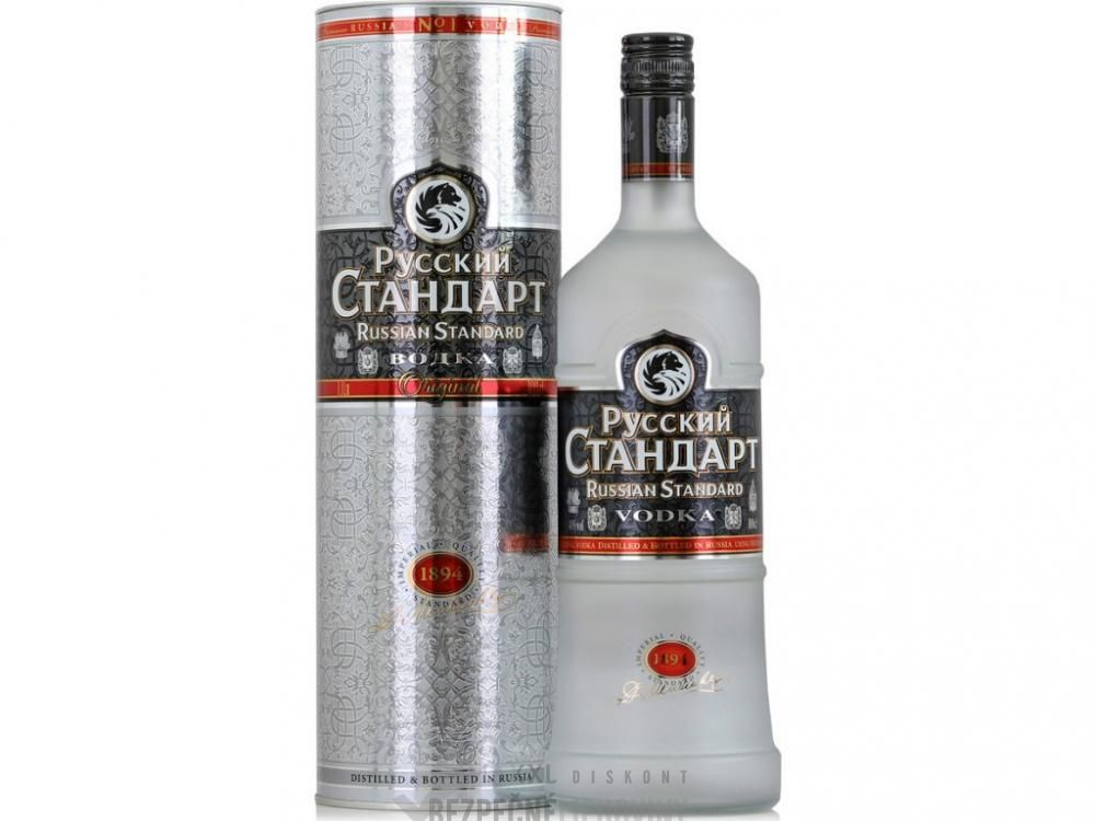 Vodka Russian st.plat.40% 1L TUBA